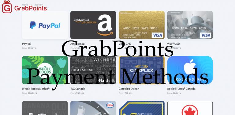 GrabPoints Payment Methods