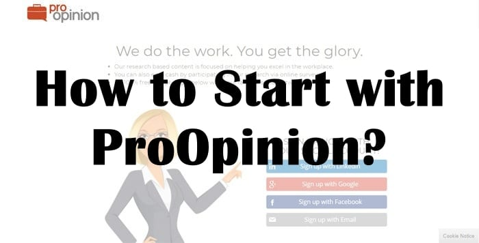 How to Start with ProOpinion?