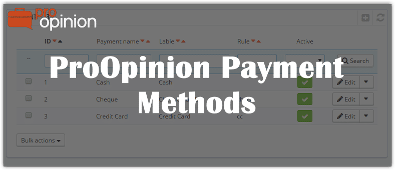 ProOpinion Payment Methods