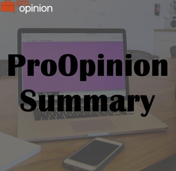 ProOpinion Summary