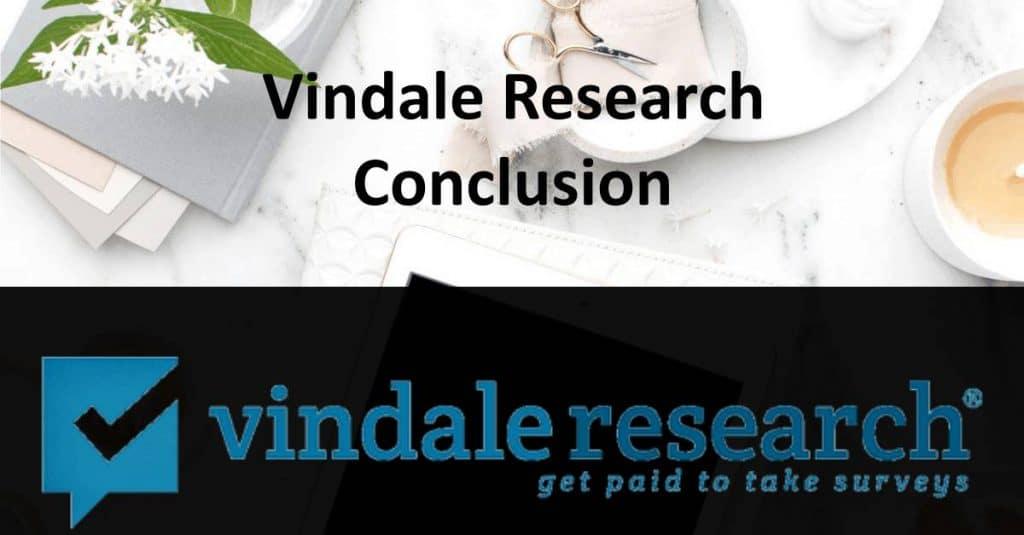 Vindale Research Conclusion