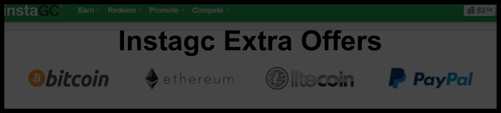 Instagc Extra Offers